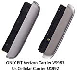 Loudspeaker Ringer Buzzer Speaker Module + Microphone + Bottom Cover Cap + Type C USB Charging Charger Dock Port Assembly Replacement For LG G5 Verizon Carrier VS987/Us Cellular Carrier US992 (Titan G