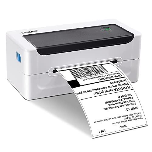 Impresora Térmica de Etiquetas de Escritorio 4 x 6 para Paquetes de envío, franqueo y pequeñas Empresas domésticas, Compatible con Ebay, Etsy, FedEx, UPS, Amazon, DHL, Color Blanco
