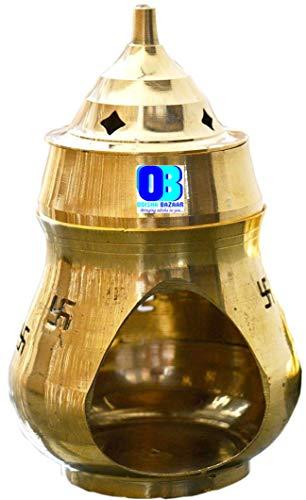 Odishabazaar Positive Aura Brass Camphor Lamp- Protect House from All Negative Energies. (Camphor-1)