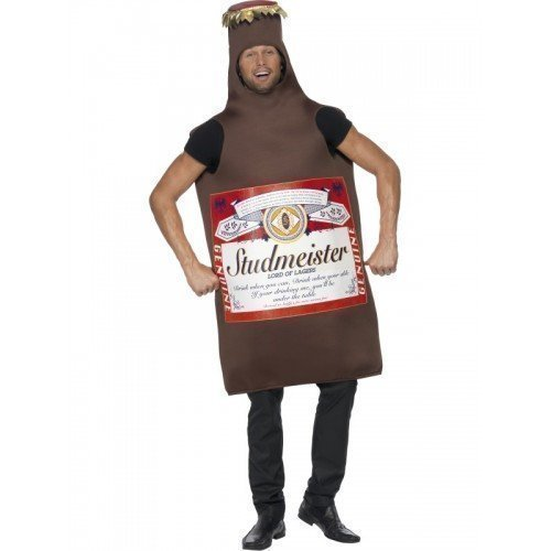 Fancy Me Hommes bière Budweiser Bouteille Lager studmeister Brame Costume déguisement Costume