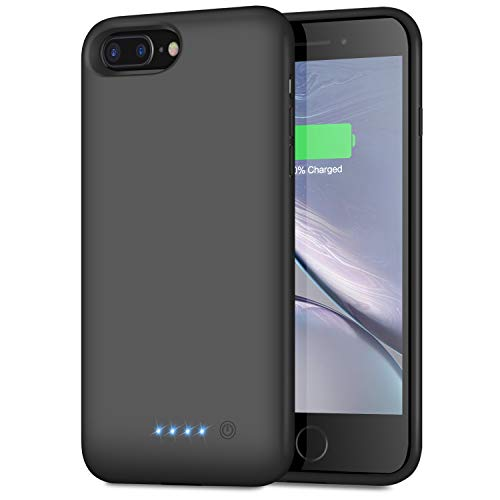 Battery Case for iPhone 8 Plus/7 Plus/6 Plus/6s Plus,8500mAh Portable Protective Charging Case Extended Rechargeable Battery Pack Charger Case Compatible with iPhone 7Plus/8 Plus/6P/6s Plus (5.5 inch)