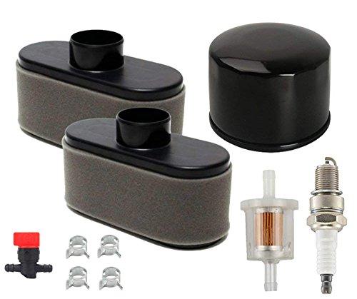 Oxoxo faciles à filtre à air Pré-filtre filtre à huile filtre à carburant avec bougie d'allumage Vanne d'arrêt Colliers de serrage pour Kawasaki Fr651V/691V/730V Fs481V/541V/600V Fs651V Fs691V Fs730V