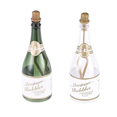 12Pcs Champagne bubble bottle shape bubble blower party favor bubble for wedding gathering events from Amosfun