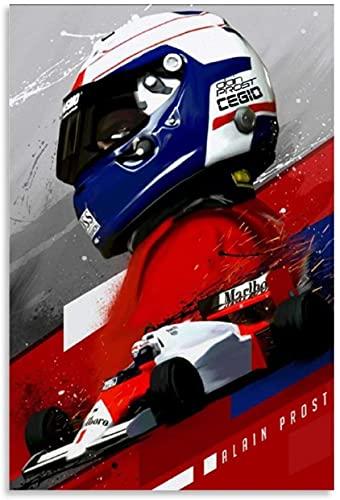 Puzzle 500 Piezas Rompecabezas para Adultos Niños El piloto de carreras campeón del mundo de F1 Alain Prost y Picture Modern 500 Piece 20.4x15inch(52x38cm) Sin Marco