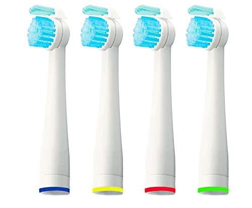 4 cabezales de repuesto para cepillos de dientes eléctricos Philips Sonicare Sensiflex HX2014, HX1600, HX2012 (4)
