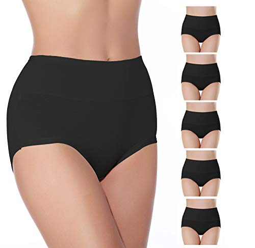 SEXYWG Braguitas Culotte para Mujer Cintura Alta Ropa Algodón Interior Pack de 5