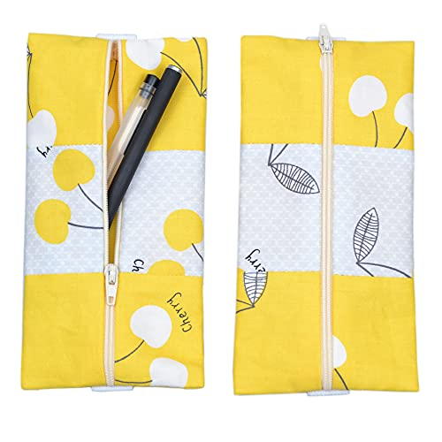 2 Pack Elastic Pencil Case Holder Pouch with Elastic Band for Journal Notebook to Hold Pens Pencils Markers Eraser Coins Keys