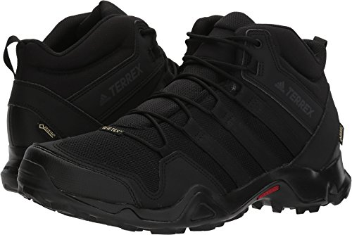 adidas Men's Terrex AX2R Mid GTX Hiking Shoe - Black/Black/Black 10
