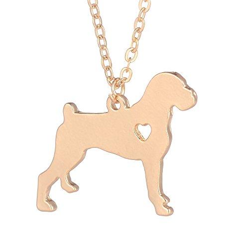 CLEARNICE Oro 1Pc Boxer Collar Perro Colgante Mascota Joyería Plata Encanto Mascotas Perro Memorial...