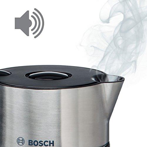 Bosch TWK8613P Wasserkocher Styline mit Edelstahlapplikation, 2400 W, für 1,5 L Wasser, schwarz - 3