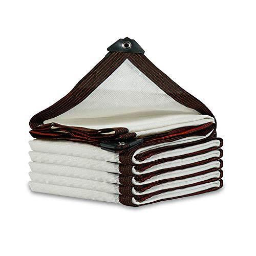 Toldos Duo 85% de Sombra sombreado Tasa de Red Blanca antiedad Protector Solar Balcón/Patio/Azotea al Aire Libre hidratante Aislamiento de Calor Neto para Planta y Flor (Size : 3x3m)