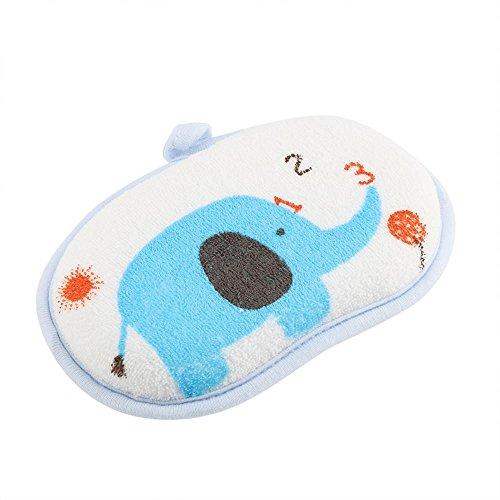 Zerodis Pak van 5 Baby Katoen Badborstel Schattig Olifant Patroon Scrub Sponge Douchegel Badhanddoek Wasaccessoire