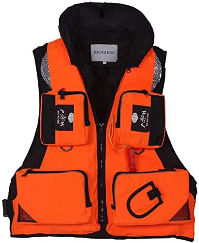 YZJL Chaquetas y Chalecos salvavidasChaleco de natación Chaquetas de natación de Ayuda a la flotabilidad para Adultos Chaqueta de Seguridad de flotación con esnórquel portátil Los Mejores Chalecos de