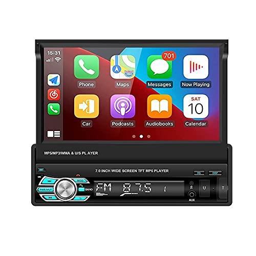 SBKDPT Radio de Coche 7'Multimedia Car Audio HD Auto Estéreo Pantalla táctil Receptor de Radio de Coche MP5 Bluetooth USB Car Audio para Coche Camión