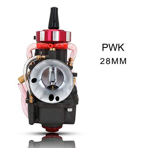 Carburador Universal Colorido Scooter carburador 21 24 26 28 30 32 34 36 38 40 42 mm Carburador for Keihin PWK con Power Jet Racing Moto Carburador de Motocicletas (Color : 28MM Round Gray)