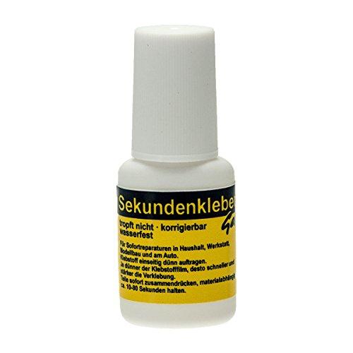 Sekundenkleber GEL 10g in der praktischen Pinselflasche Nagelkleber Bastelkleber Atomkleber Superkleber (1 Flasche)