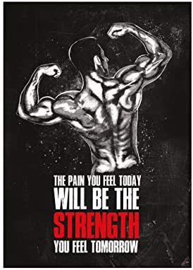 GREAT ART Motivational Workout Poster 23 4 x 16 5 in 59 4 x 42 cm Wall and Fitness Poster Motivational product image