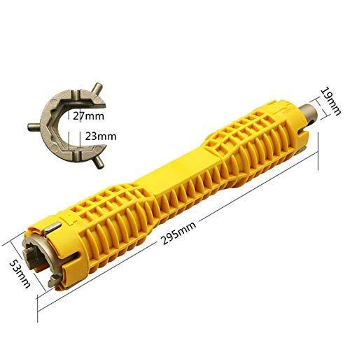 Llave de vaso para instalador de grifos de fregadero, herramientas de plomería Multiuso de trinquete Podger Andamio Llave llave inglesa Herramienta de plomería Llave de tubo Llave de inodoro para rep
