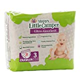 Happy Little Camper x Hilary Duff Ultra Absorbent Hypoallergenic Natural Baby Diapers with Bio Core Blend and Strong Latex and Chlorine Free Protection  Size 3  31 Count