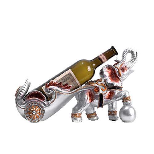 CAIJINJIN estante del vino Arte decoraciones artesanía creativa elefante vino enfriador de vino en rack de uva restaurante vino de mesa de comedor de mesa Almacenamiento
