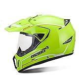 Casco da motocross per giovani con visiera di sicurezza Mountain Bike Ciclismo o guida in moto con occhiali Casco da moto Design in fibra di carbonio