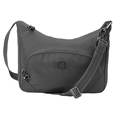 Lewis N. Clark RFID Blocking Anti-theft Crossbody Bag + Messenger Bag for Women with Slash Resistant Material, Slate