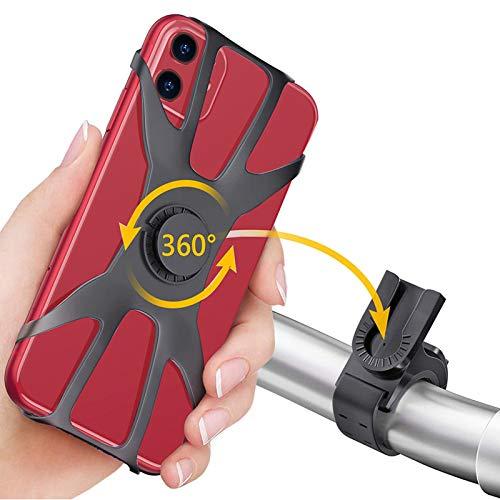 Loveternal Handyhalterung Fahrrad Abnehmbar Silikon Handyhalter Fahrrad für Huawei p30 Lite/p30 Pro/p30,iPhone 11 Pro/SE/XR/8/7, Samsung Galaxy s10/s10e/s20/a51, Passend für 4,2-7,0 Zoll Smartphone