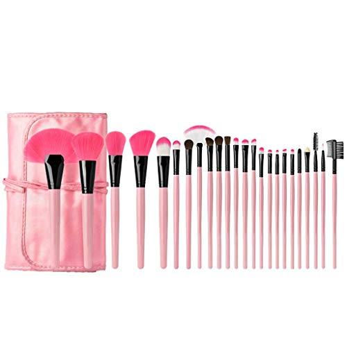 GCX- Maquilleur 24 Maquillage Brush Set beauté Ensemble Complet d'outils Poils d'un Animal débutant Studio Brosse Beau (Color : Pink)