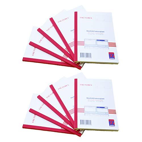 Manfold facturen met btw. Dupli A5 Grootte: 210 x 148 mm / 21 x 14,8 cm Folio 50 vellen, doorschrijvend EZ Office Dupli autocopiants - Lot de 10