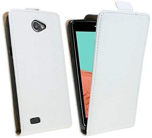 test ENERG MiX Flip Cover für Mobiltelefone, die mit LG Bello 2 (X150) weiß kompatibel sind, mit Falttasche Deutschland