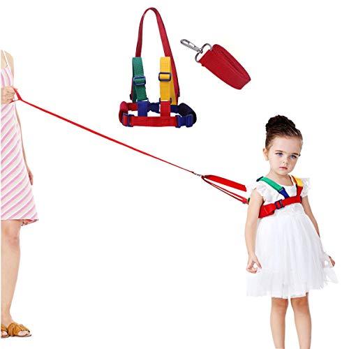 JZK Arnes cinturón seguridad para caminar para bebé, arnés de ajustable para caminar con correa