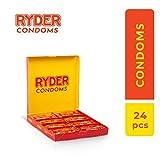 Ryder Kondome-Packung mit 24-Geschmierte transparente Kondome-Dünne Kondome für ein natürliches Gefühl