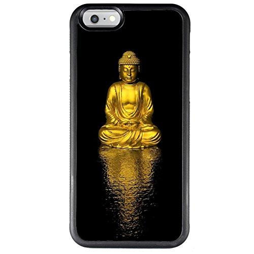iPhone 6s Plus 6 Plus Phone Case,Gold Buddha Series Slim-Fit Anti-Scratch Shock Proof PC and TPU Case for iPhone 6s Plus 6 Plus Black