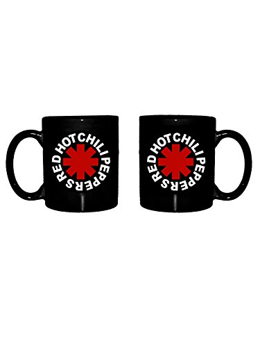 Beats & More Red Hot Chili Peppers - Taza de café, diseño con Texto Aterisk