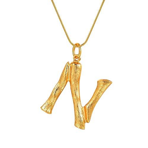 NSXLSCL Vrouwen Hanger Ketting, Grote Letters N Goud Hanger Kettingen Voor Vrouwen Met Snake Chain Engels Letter Sieraden Beste