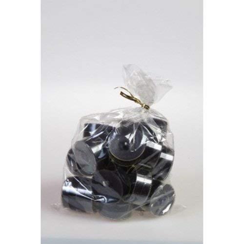20 original Dänische Teelichter ohne Duft im Acryl-Cup farbig durchgefärbt schwarz