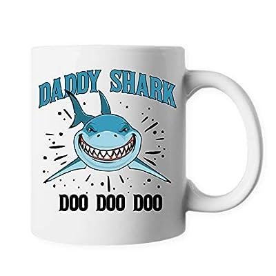Shark Family Doo Doo Mommy Nana Daddy Papa Ceramic Coffee Mug Tea Cup