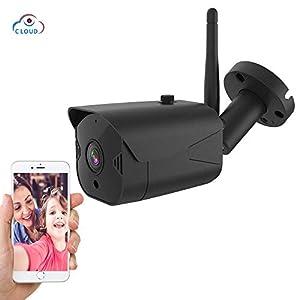 Cámara de Seguridad para Exteriores WiFi Inalámbrica 1080P IP CCTV de vigilancia IP a Prueba de Agua Visión Nocturna, Audio bidireccional, visualización remota, Sensor de Movimiento iOS/Android