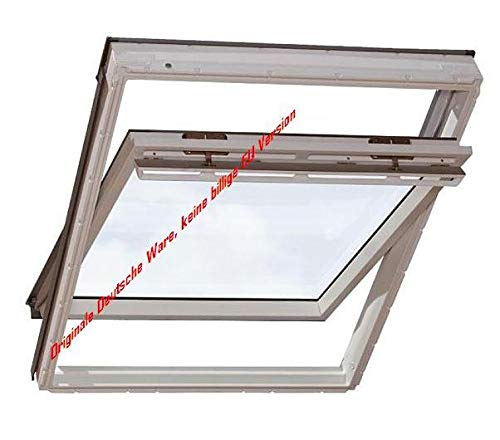 Velux Dachfenster GGU Schwingfenster 78x118cm MK06 0070 Thermo Kunststoff mit Ziegeleindeckrahmen EDZ 0000