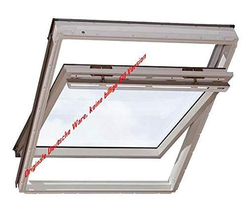 Velux Dachfenster GGU Schwingfenster 55x98cm CK04 0070 Thermo Kunststoff mit Ziegeleindeckrahmen EDZ 0000