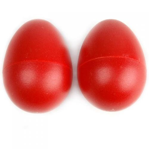 Ma-on 1 paire Plastique Percussion musicale Maracas Egg shakers Early Learning jouet (Rouge)