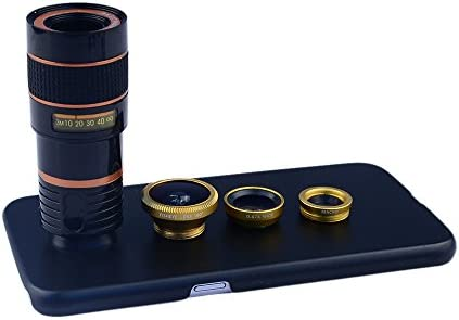 Apexel 4 in 1 Wide Angle Macro Lens Fisheye Lens 8X Telephoto Camera Lens Kit with Back Case product image