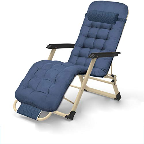 NBVCX Furniture Component Garden Chair Zero Gravity Recliner Seat For Relaxing In The Sun Outdoors Patio Lounger Smooth Easy To Use Multi Position Removable Adjustable Head Cushion Pillow