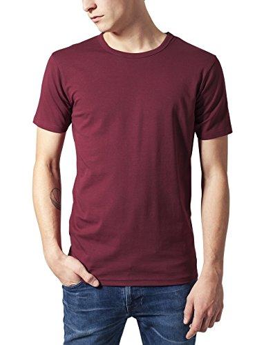 Urban Classics TB814 Herren T-Shirt Fitted Stretch Tee, Gr. Medium, Rot (burgundy 606)