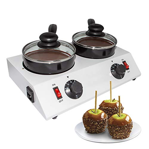 GorillaRock Chocolate Melting Pot | Professional Chocolate Tempering Machine with Manual Control | Heated Chocolate | 110V (Double pot)
