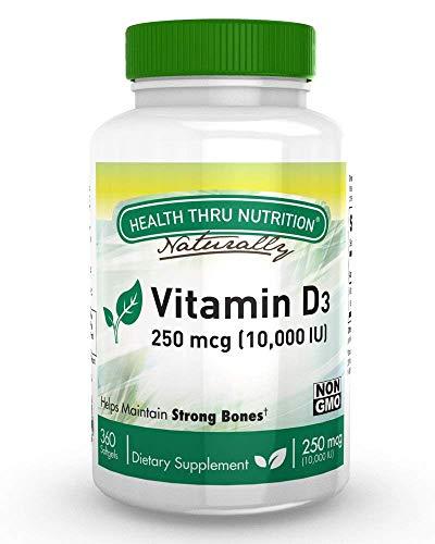 Vitamin D3 10,000 IU Non GMO 360...
