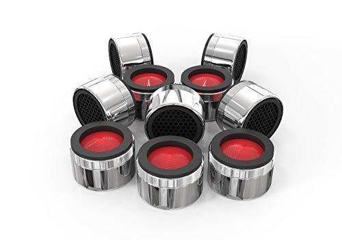 5x Sparstrahlregler für Wasserhähne | Wasser sparen M24x1 Strahlregler | Sparstrahlregler mit ABS-Filter für mehr Nachhaltigkeit | 4,5L/min
