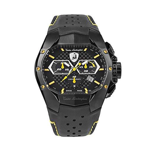 Tonino Lamborghini GT1 Reloj cronógrafo amarillo carbono T9GE