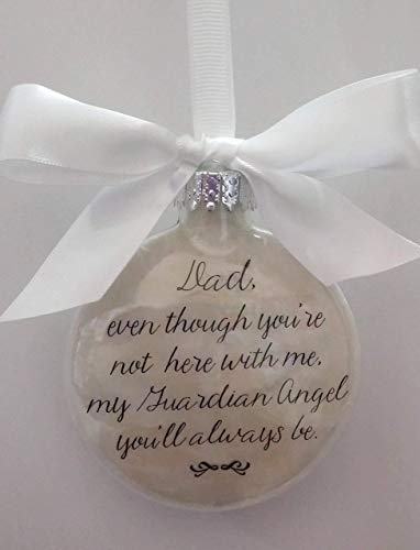 Father Loss Memorial Dad is my Guardian Angel In Memory Christmas Ornament Keepsake Sympathy Gift
