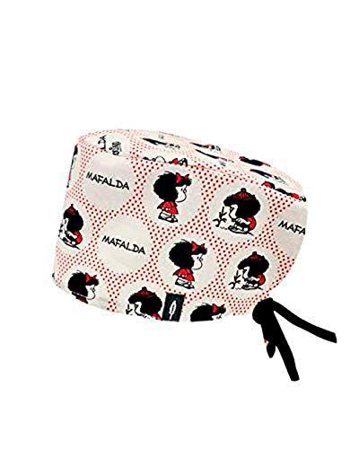 Modelo: MAFALDA DOT - Estampado-Gorro de Quirófano ROBIN HAT- Pelo